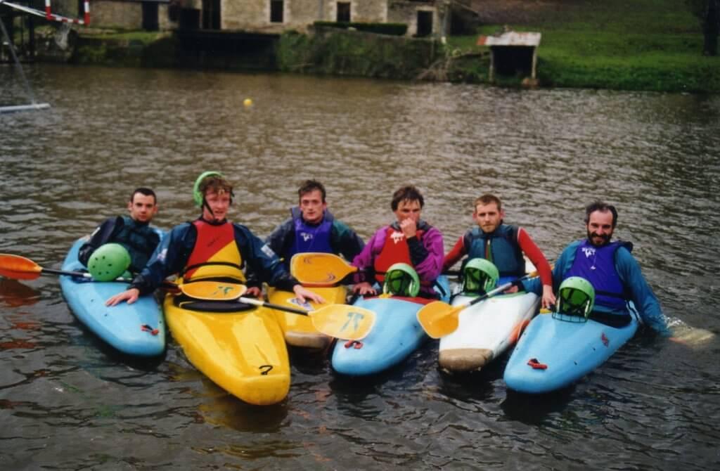 Les débuts du kayak polo à Vern
