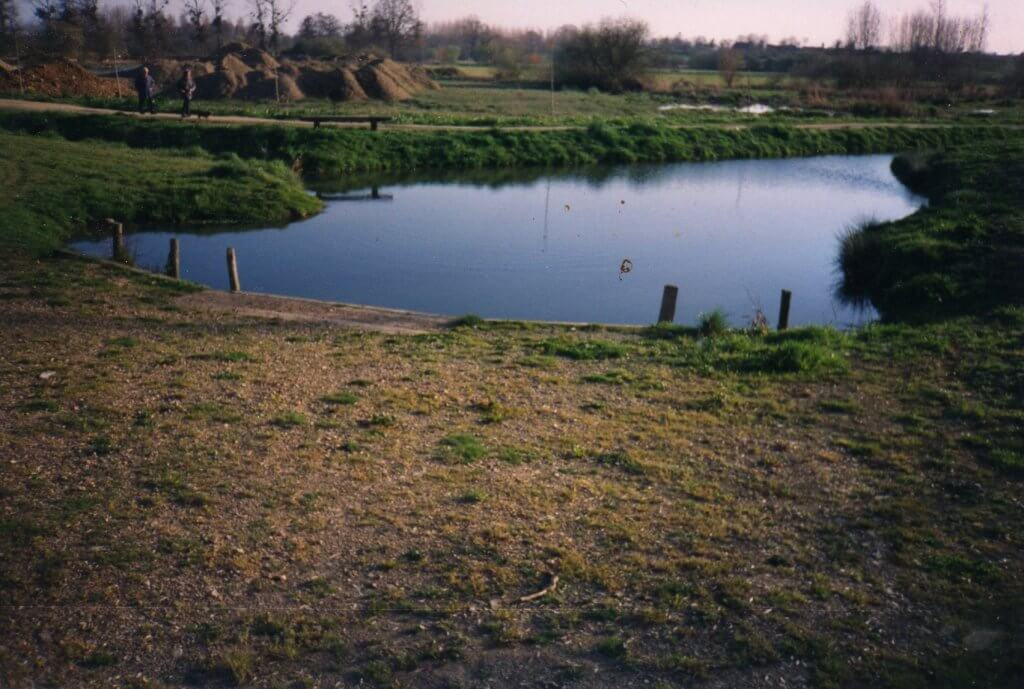 Le futur plan d'eau