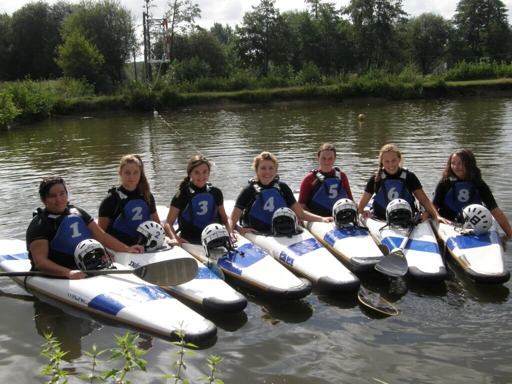 L'équipe féminine de Kayak Polo (2014)